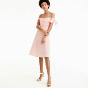 J. Crew Seersucker Pink Off Shoulder Dress 6T