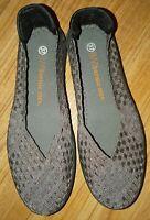 Bernie Mev Woven Catwalk Slip On Silver Comfort Shoes Size 37