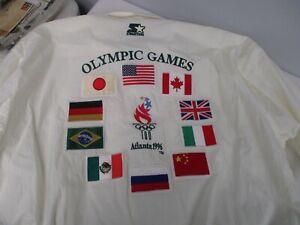 VINTAGE 1996 STARTER OLYMPIC GAMES ATLANTA SUMMER GAMES MEN'S JACKET SIZE XL