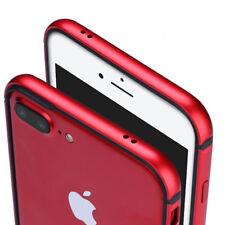 Aluminum Metal Bumper Rug Rubber Shockproof Slim Case For iPhone X 7 Plus/6S/8