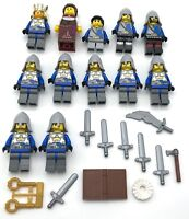 LEGO 12 NEW CASTLE CROWN KNIGHT KINGDOMS MINIFIGURES KING QUEEN MEN WEAPONS MORE