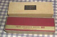 Vintage 1847 Rogers Bros. Silverplate Tablespoon,Salad Spoon,IS,Original Box