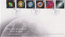 UNADDRESSED SILVER GLENROTHES GB ROYAL MAIL FDC 2007 THE SKY AT NIGHT STAMP SET