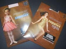 NEW MAIN STREET BALLET FOOTED TIGHTS PINK/TAN/WHITE CH/AD Supplex ultrasoft