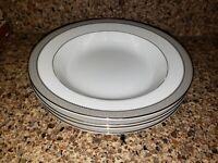 "Mikasa L3428 Platinum Crown Fine China Set of 4 Cereal Soup Bowls 8.5"""