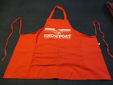 Atlantic City New Jersey Showboat Hotel and Casino Red Dealers Apron #007