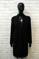 Calvin Klein Donna 40 Cappotto Nero Giacca Lunga in Lana Jacket Women's Black