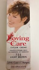Clairol Loving Care  Hair Color Light Brown 755 Discontinued