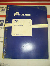 Fiat Allis 7g Crawler Loader Parts Catalog Manual Book