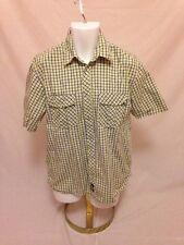 Mens Dickies Western PEARL SNAP Short Sleeved Shirt - Sz L