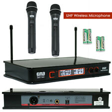 Vocal Karaoke Wireless Microphone System Dual Handheld 2 x Cordless  Mic 6-8 Hrs