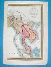 1835 ORIGINAL MAP THAILAND SIAM MALAYSIA KUALA LUMPUR VIETNAM LAOS BURMA BANGKOK