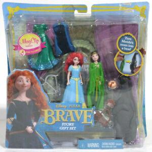 Disney Pixar Brave Story Gift Set NEW Merida Mother Bear Figure Polly Pocket NIP