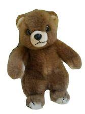 "Vintage 1982 Brown Teddy Bear Plush Antics Bellstone Trading Co 10"""