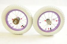 "PAIR RALEIGH MOLLY 12 WHEELS WHEEL SET SUIT OTHER 12"" CHILDS KIDDIES BIKES"