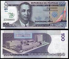PHILIPPINES 100 PISO (P213) 2012 COMMEMORATIVE ISSUE MANILA HOTEL UNC
