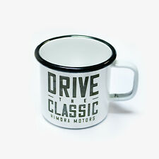 Emaille Tasse - Drive the Classic // Metall Tasse VW Porsche Mercedes Oldschool