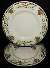 2 Majesticware Sakura Poinsettia Delight Christmas Holiday Salad Plates 1997