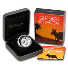 2010 Australia 1 oz Silver Kangaroo Proof (High Relief) - SKU #59678