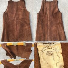 Vintage Georgetown Leather Design Washington DC Suede Vest Hippie Boho S M