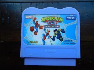 Vtech Vsmile MARVEL SPIDERMAN & FRIENDS SECRET MISSION Game Cartridge