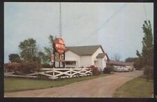 Postcard Stockton Illinois/Il Valley-Vu Tourist Motel Motor Court view 1950's