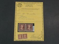 Nystamps US Stamp # 601 Mint OG $28 joint line pair PF Certificate