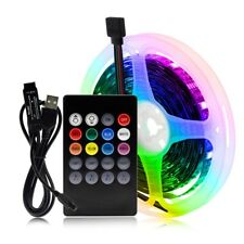 2m Remote Control RGB Changeable USB LED Light Strip 5050 Flexible Lights Rope