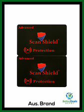 2 x Scan Shield Advanced Protection RFID Blocking Card for Wallet **Brand New**