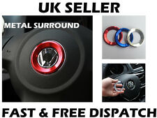 VW RED Steering Wheel Metal Badge Surround Ring Jetta Golf Transporter T5