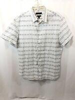 BANANA REPUBLIC Lightweight Custom Camden Fit Short Sleeve Shirt Size Large 078