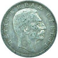 COIN / SERBIA / 1 DINAR 1912 PETAR 1 SILVER    #WT24657