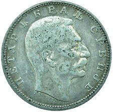 More details for coin / serbia / 1 dinar 1912 petar 1 silver    #wt24657