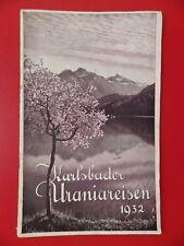 Antiguo viaje folleto Karlsbad uraniareisen san remo Niza Berlin 1932 (f 17204