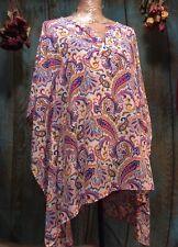 "Woman's Size 2X Kimono Sleeve Paisley Top by ""Westbound"""