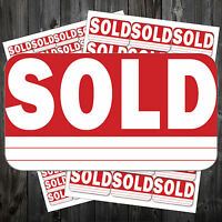 SOLD Stickers Sticky Labels Removable Adhesive #acq
