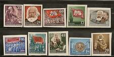 GERMANY DDR 1953 KARL MAX ENGEL FLAGS IMPER SC # 137a-146a MH