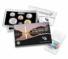 2019 S SILVER PROOF Set w BOX COA & W Reverse Lincoln Penny Cent 19RH 11 Coins