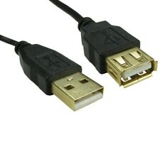 USB Extension Cable A to A Lead Male to Female 1m 2m 3m High Speed Gold Plated