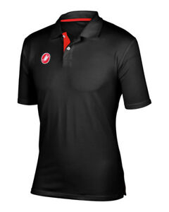 Castelli Cycling RACE DAY POLO Casual SHIRT : BLACK