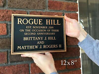 Bronze House Address Plaque Anniversary Welcome Personalized