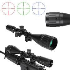 6-24X50AOL Illuminated Crosshair Mil-dot Rifle Scope Multicoated Sight w/ Mounts