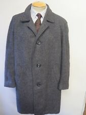 "Genuine Harris Tweed Grey Coat Size L 44"" R Euro 54 R"
