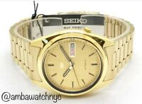 Seiko SNXL72 Gold Tone Automatic WR Day Date Wrist Watch for Men