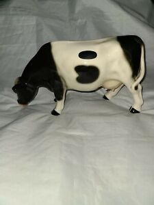 VINTAGE COPPERCRAFT HOLSTEIN COW CERAMIC FIGURE MADE IN ENGLAND STAMPED