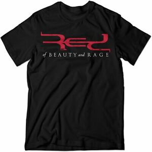 Bandshirt RED of Beauty and Rage Logo T-Shirt Exklusiv schwarz Rundhals Neu