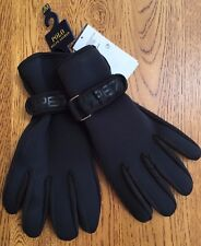 POLO RALPH LAUREN BLACK ACTIVE NEOPRENE GLOVES WITH POLO LOGO PALM SIZE S/M BNWT