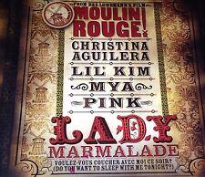 Christina Aguilera Lil' Kim Mya Pink Lady Marmalade CD Single 2001 Moulin Rouge