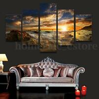 HUGE SUN SKY MODERN ABSTRACT WALL DECOR ART OIL PAINTING ON CANVAS ( No