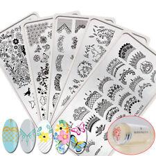 7pcs/set Nail Stamping Tool Kits Stamp Plates French Spring w/ Stamper Scraper